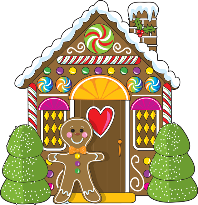 Free clipart gingerbread house