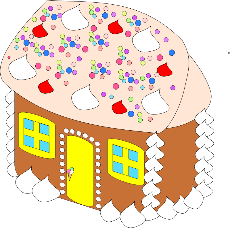Christmas houses clipart png black and white stock Christmas Food Clipart - Candy Canes and Gingerbread Houses - Free ... png black and white stock