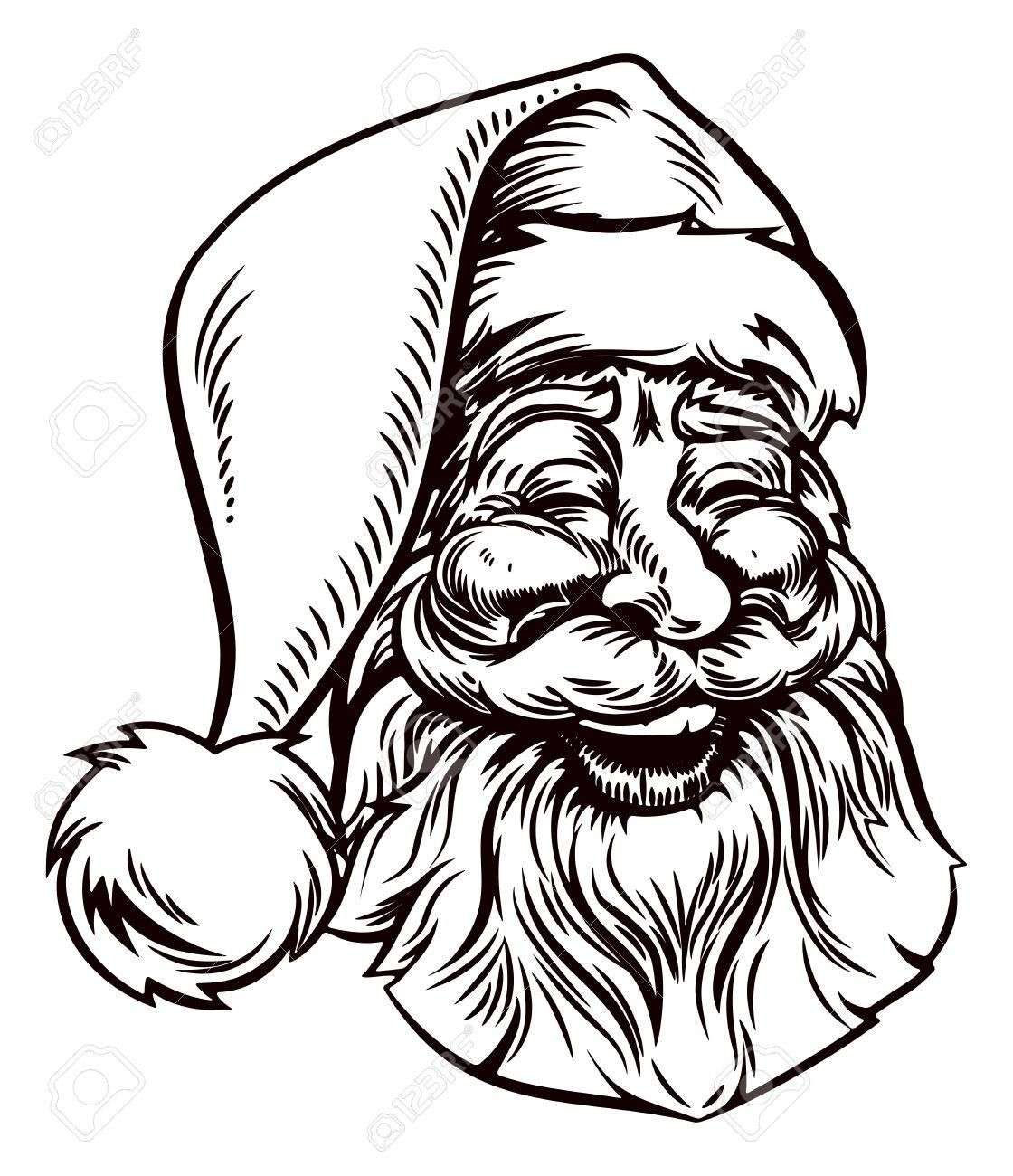Christmas clipart woodcut clip freeuse library Image result for VINTAGE SANTA WOODCUT ROYALTY FREE | Santa ... clip freeuse library
