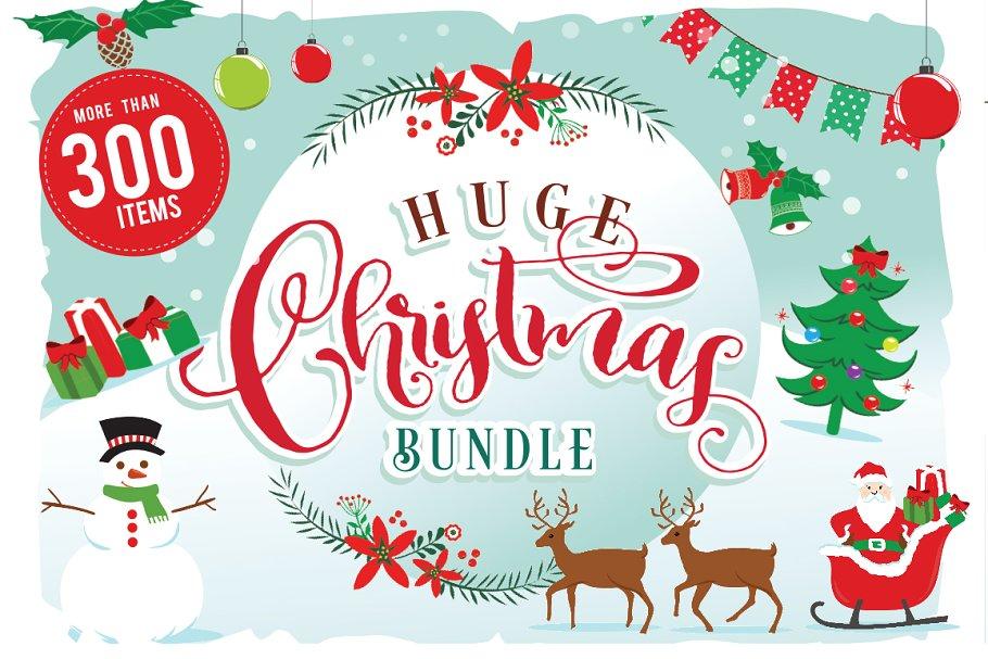 Christmas cliparts packs png transparent download Christmas Clipart Bundle 300 items ~ Illustrations ~ Creative Market png transparent download