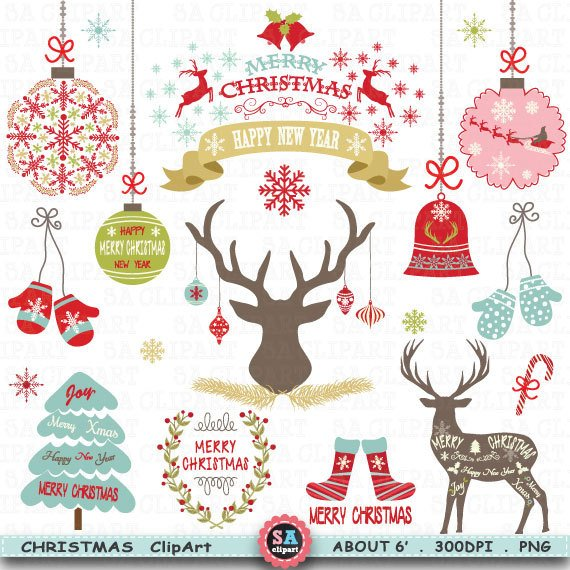 Christmas cliparts packs graphic freeuse Christmas Clipart \
