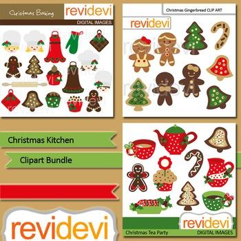 Christmas cliparts packs clip art transparent Christmas clip art: Christmas Kitchen clipart bundle (3 packs) clip art transparent