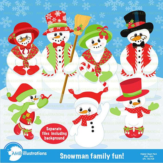 Christmas cliparts packs jpg download Snowman Clipart, Christmas Clipart, Frosty the Snowmen Clipart ... jpg download