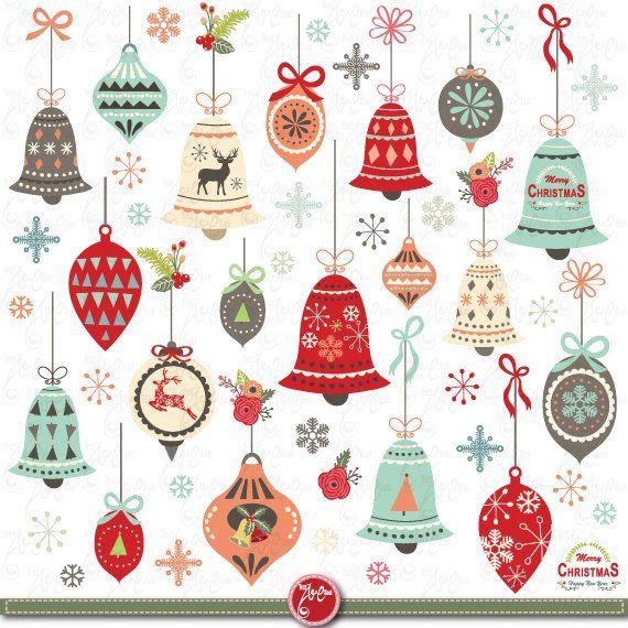 Christmas cliparts packs vector library stock Christmas clip art \