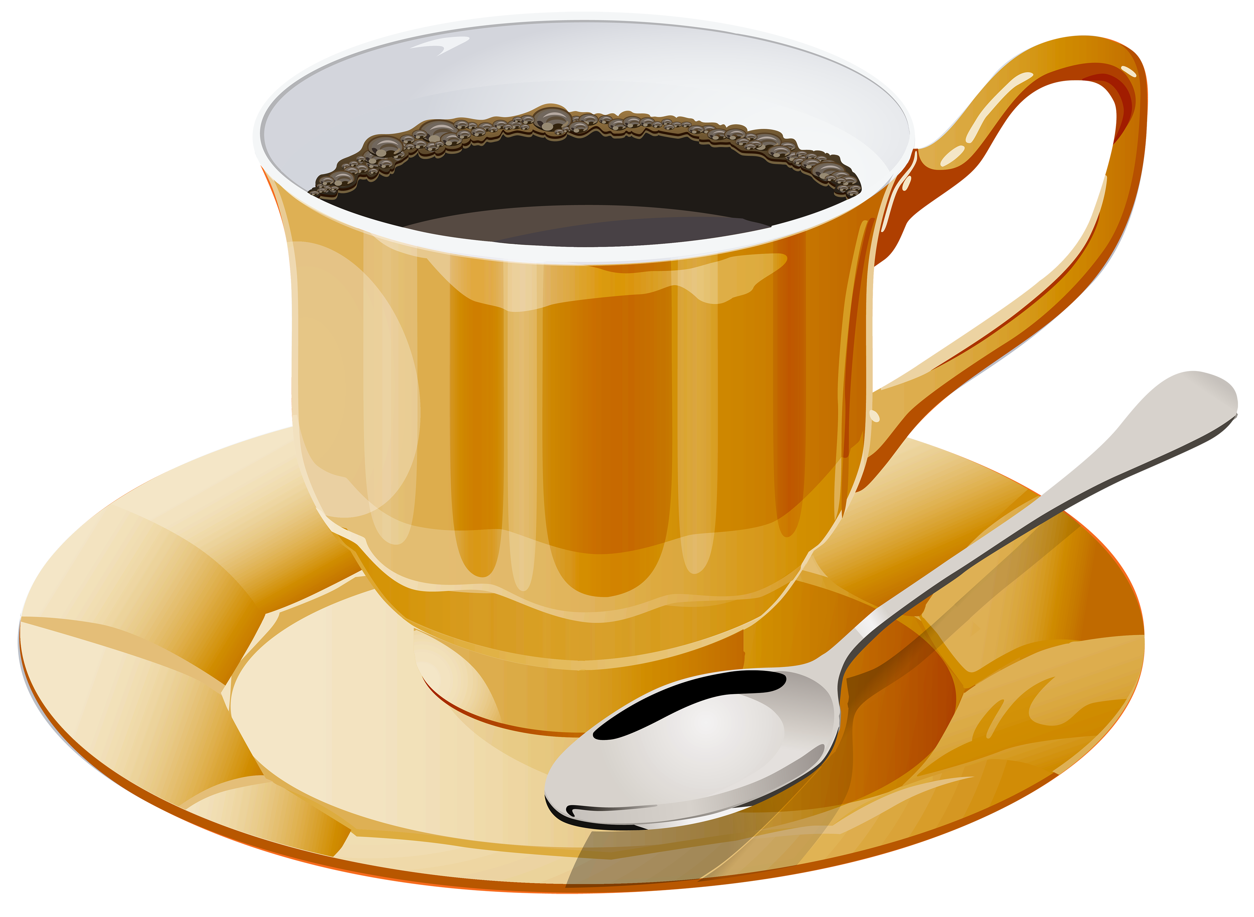 Coffee and book clipart picture royalty free library Yellow Cup of Coffee PNG Clipart - Best WEB Clipart picture royalty free library
