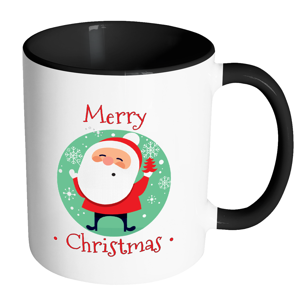 Christmas coffee mug clipart clip transparent download Santa Merry Christmas Ceramic Mug 11 Oz Color Glazed Interior – Mind ... clip transparent download