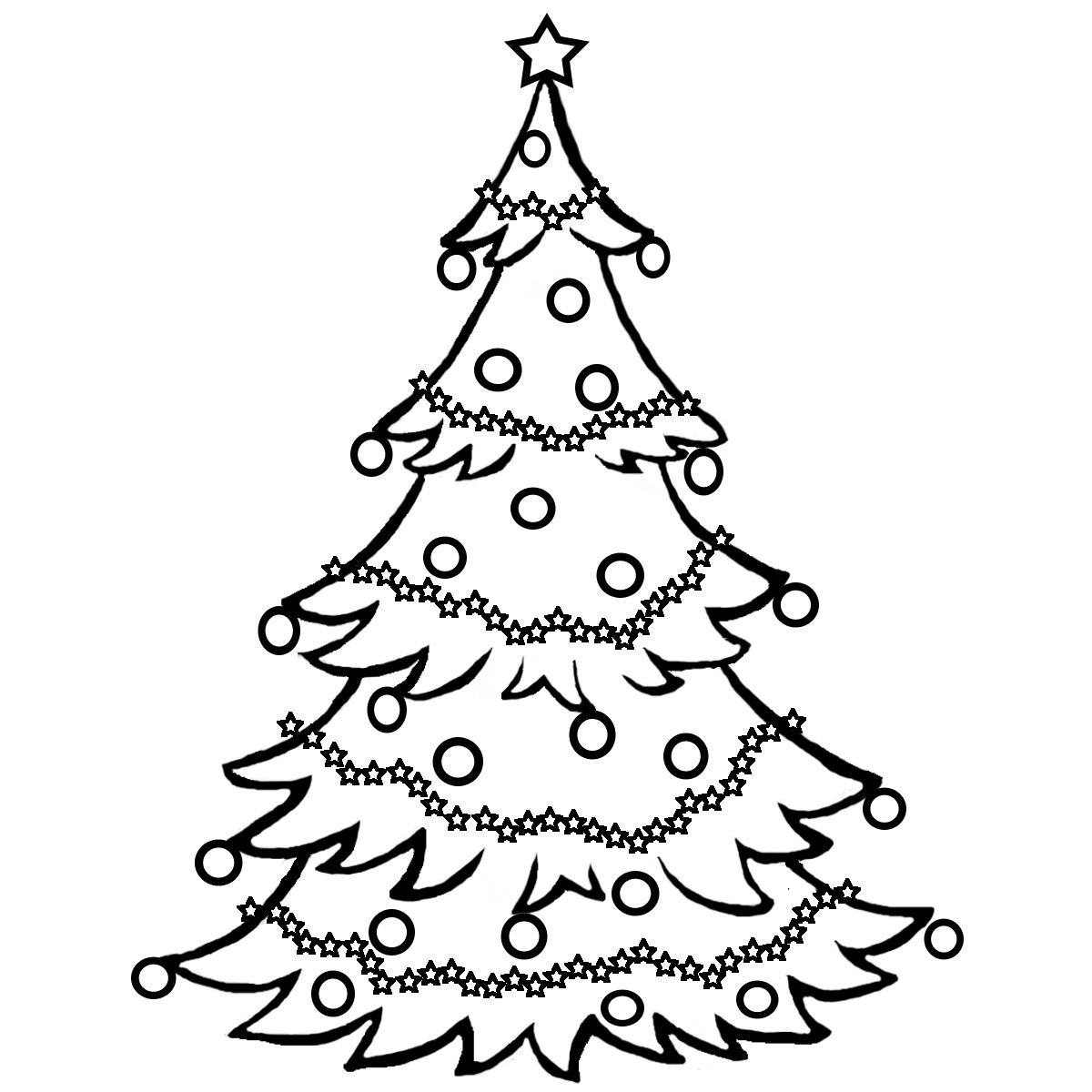 Christmas tree clipart color graphic royalty free Christmas Coloring Pages | Christmas Clip Art - Clip Art for ... graphic royalty free