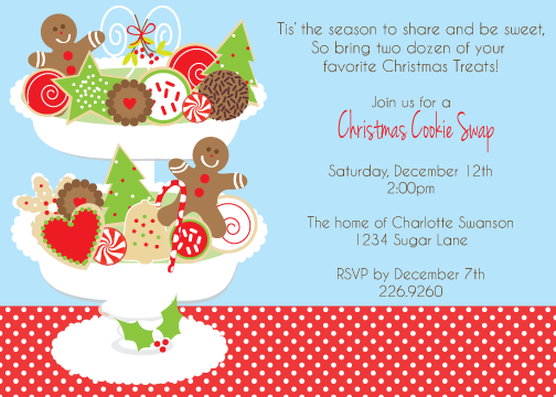 Christmas cookie exchange clipart graphic free download christmas cookie exchange invitation wording | Sweet!! Dessert is ... graphic free download