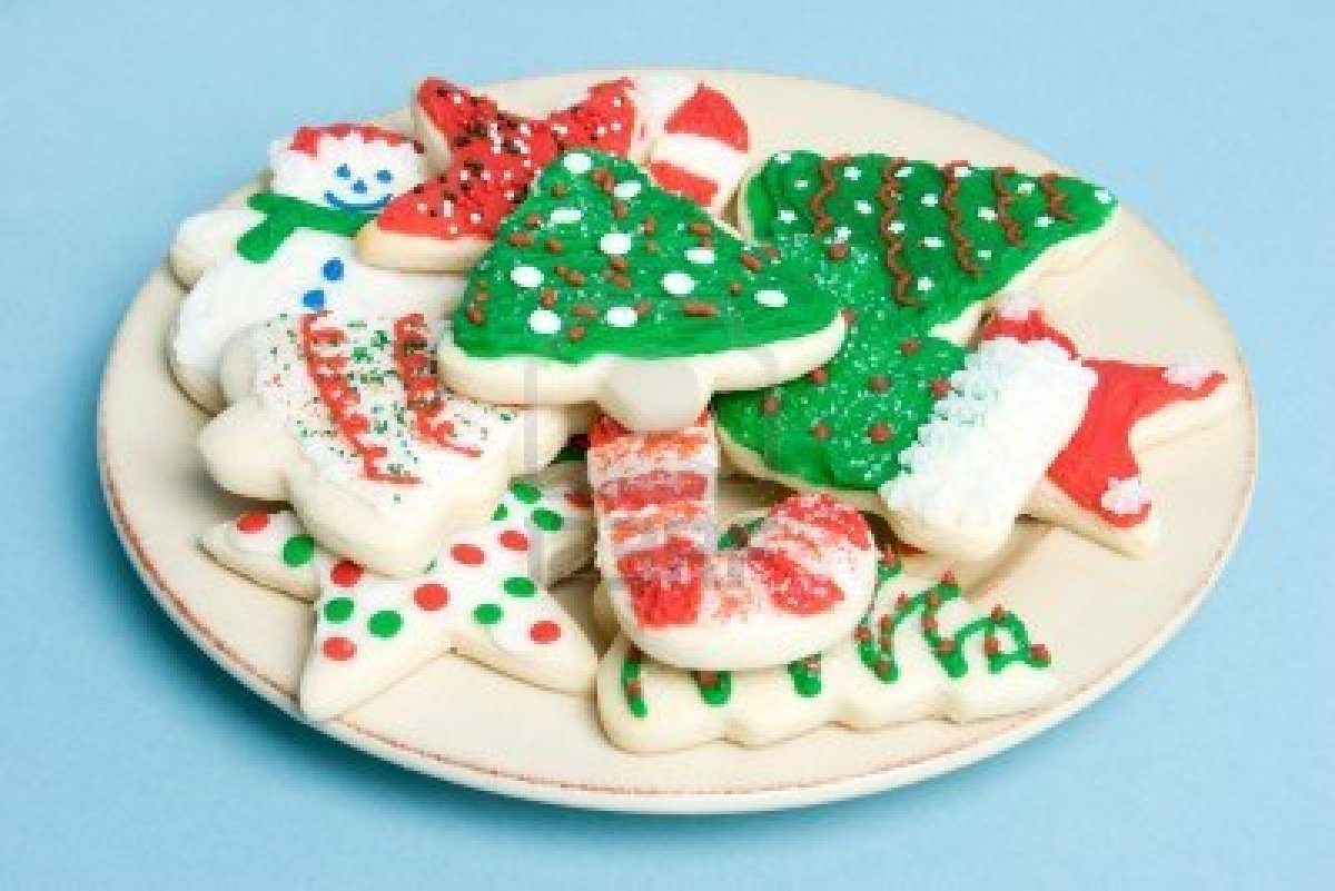 Christmas cookies tray clipart
