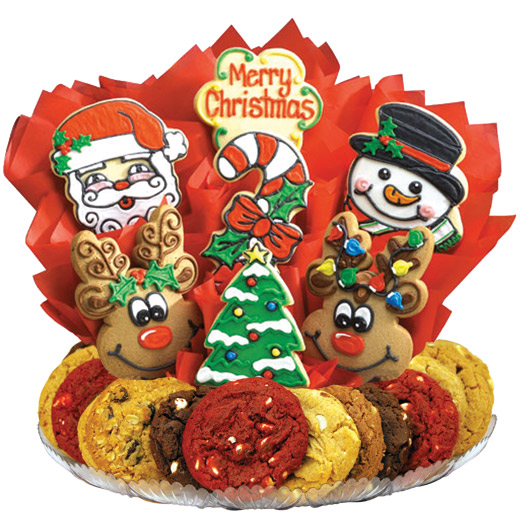 Christmas cookies tray clipart transparent stock Decorated Christmas Cookies | Christmas Bouquet | Cookies by Design transparent stock