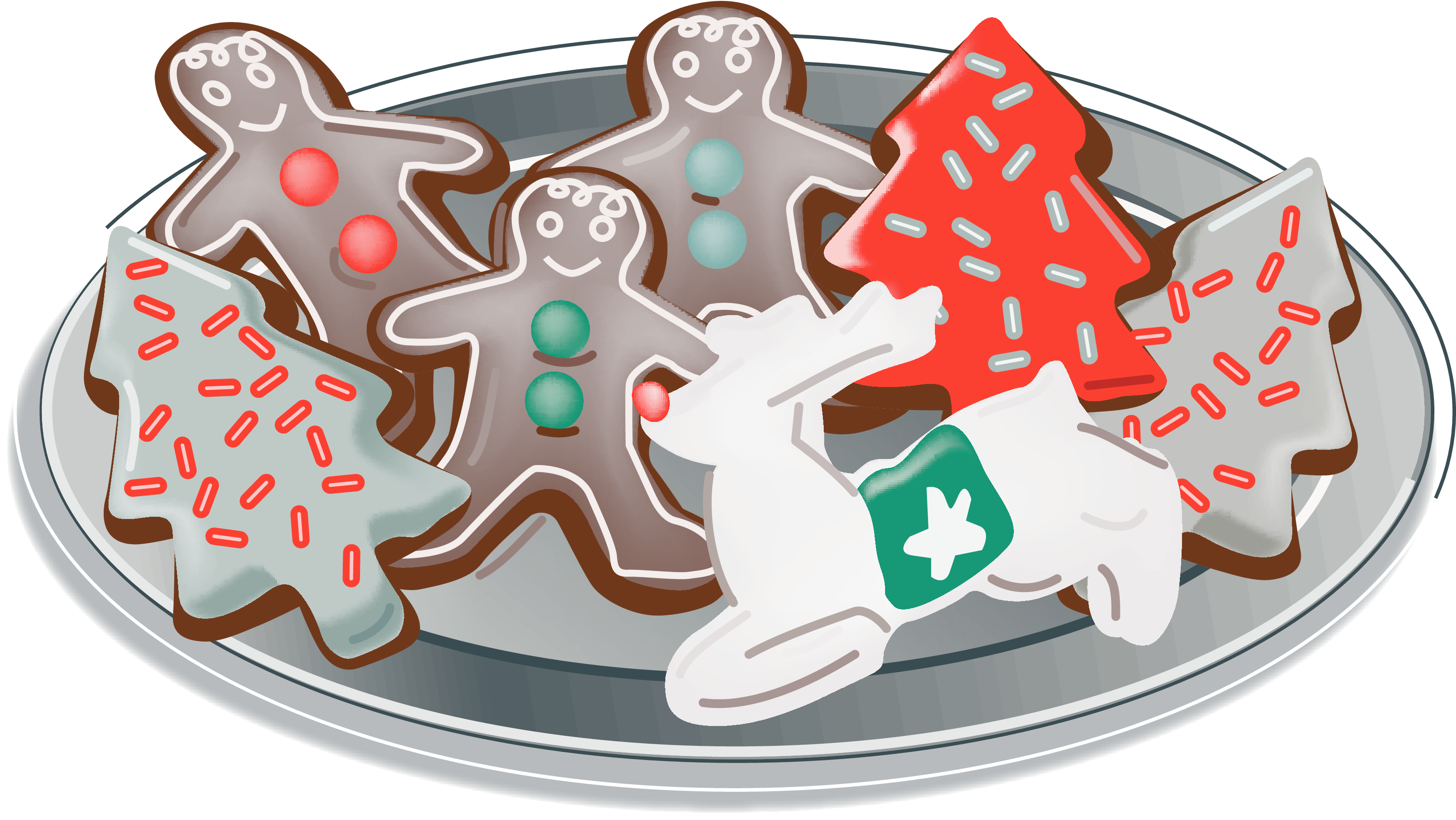 Christmas cookies tray clipart svg stock Cookie clipart free download on WebStockReview svg stock