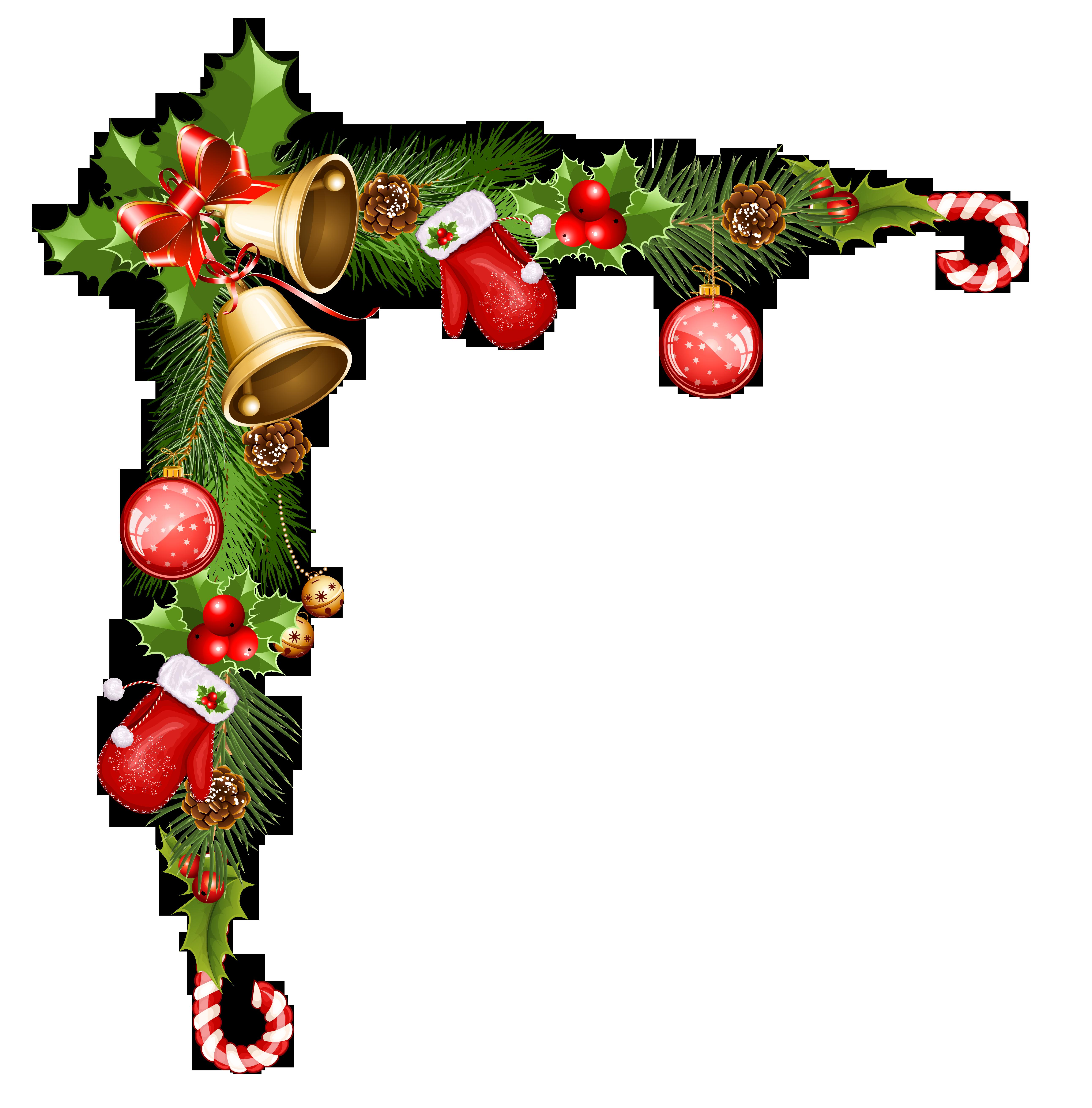 Christmas corner border clipart stock Christmas Corner Decoration Clipart - Sandal Wadon stock