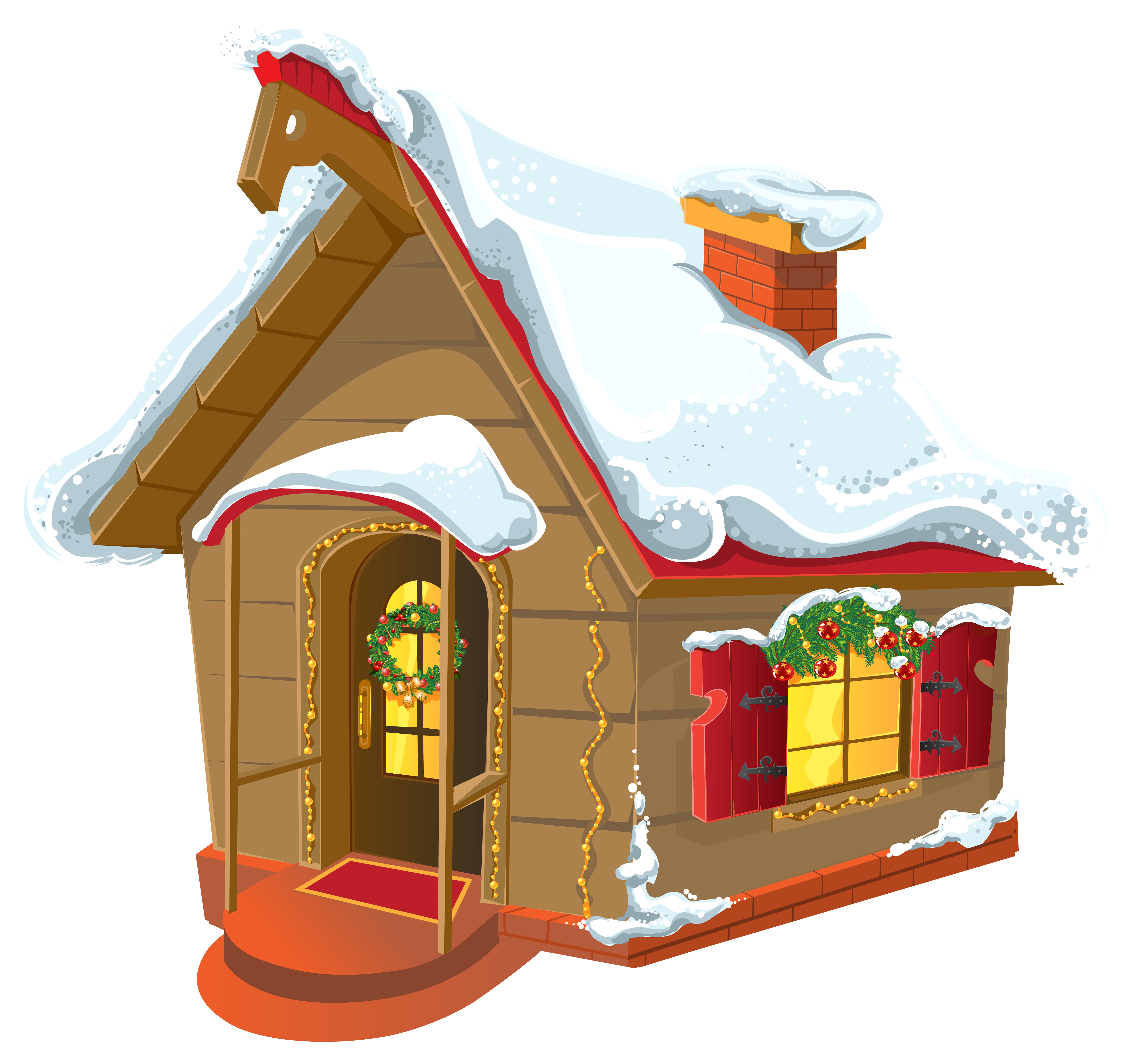 Christmas cottage clipart banner stock Christmas cabin clipart clipart images gallery for free download ... banner stock