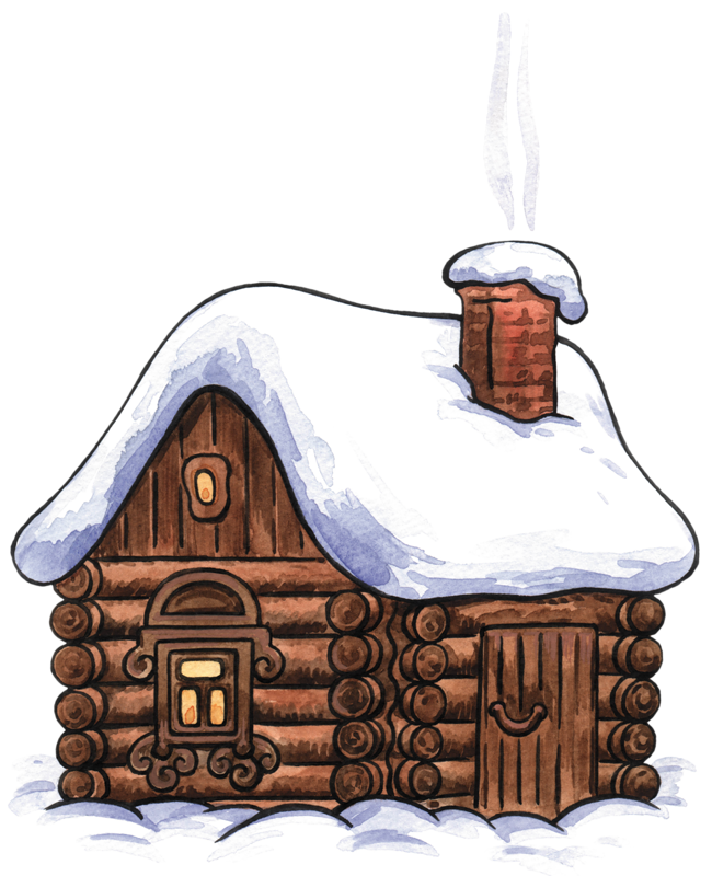 Snow cabin clipart png transparent stock WINTER CABIN CLIP ART | CLIP ART - WINTER - CLIPART | Christmas art ... png transparent stock