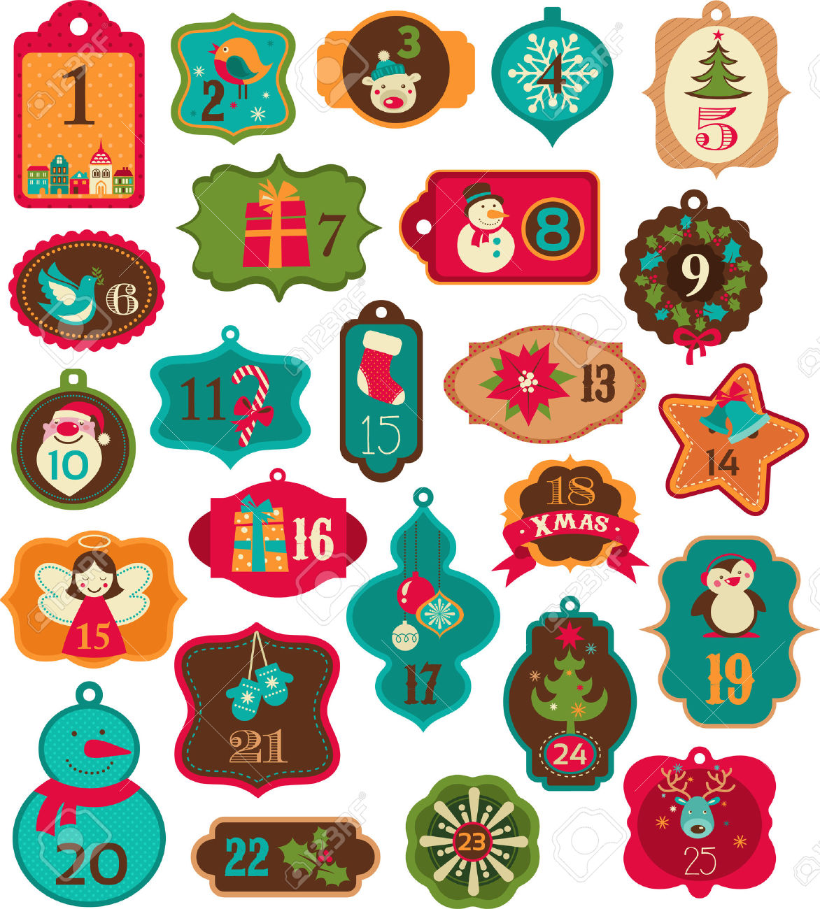Christmas countdown clipart jpg stock 4,780 Christmas Countdown Stock Illustrations, Cliparts And ... jpg stock