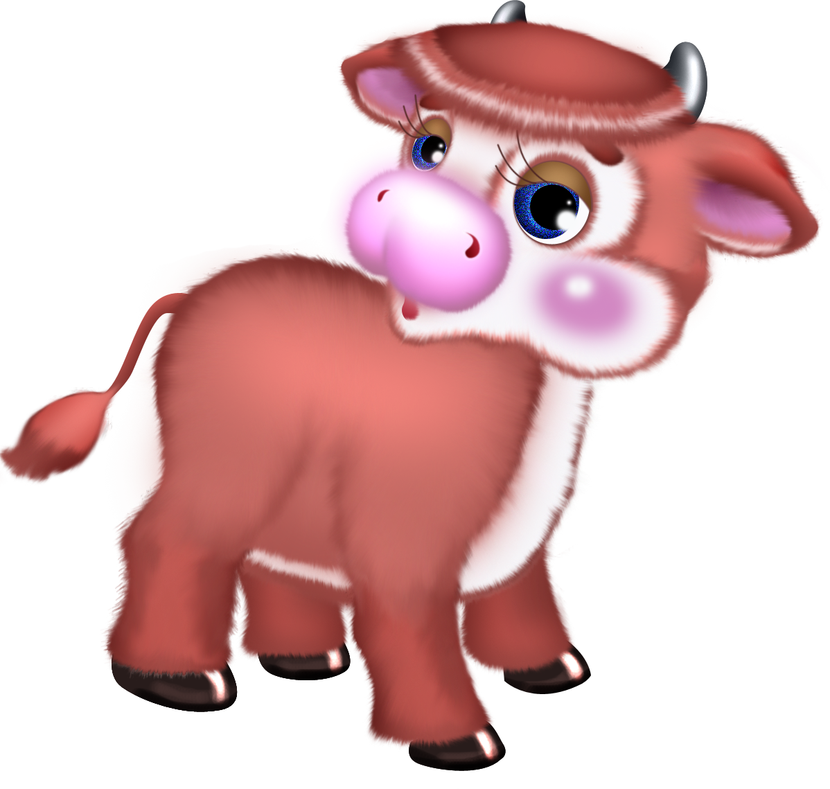Christmas cow clipart clip transparent library Cute Cow Free Clipart | Gallery Yopriceville - High-Quality Images ... clip transparent library