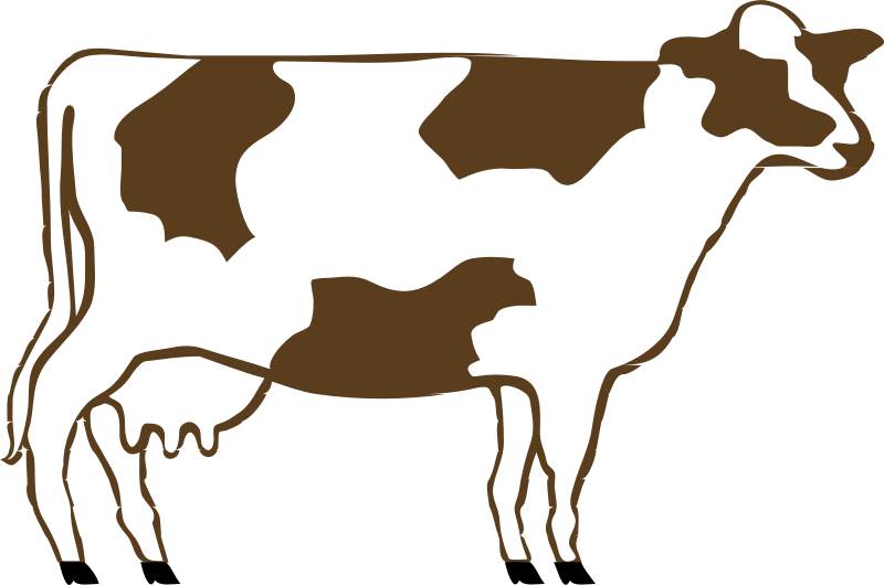 Thanksgiving cow clipart clipart black and white Download Cow Clip Art ~ Free Clipart of Cows: Cute Calfs, Bulls & More clipart black and white