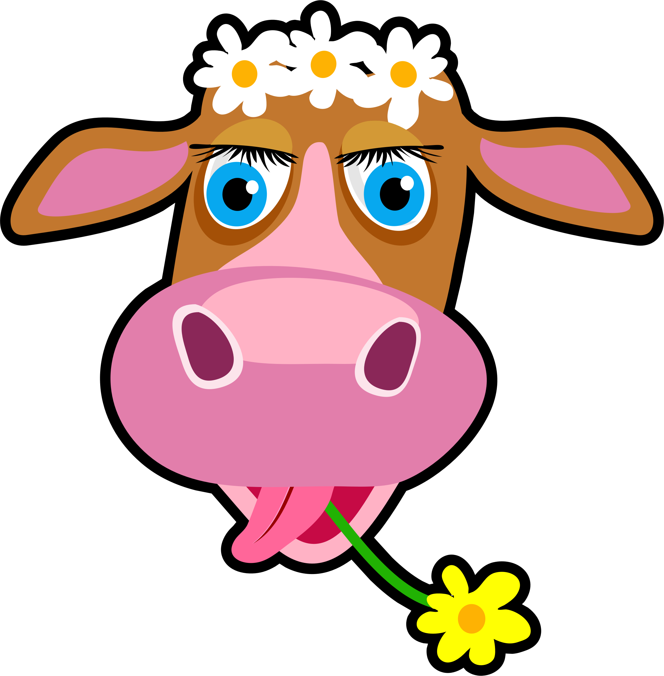Christmas cow clipart jpg library download Clipart - Daisy the Cow jpg library download