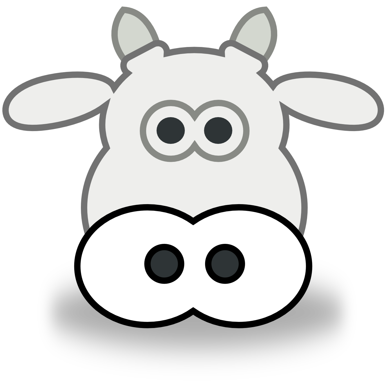 Christmas cow clipart black and white download Cow Face Clipart | Clipart Panda - Free Clipart Images black and white download