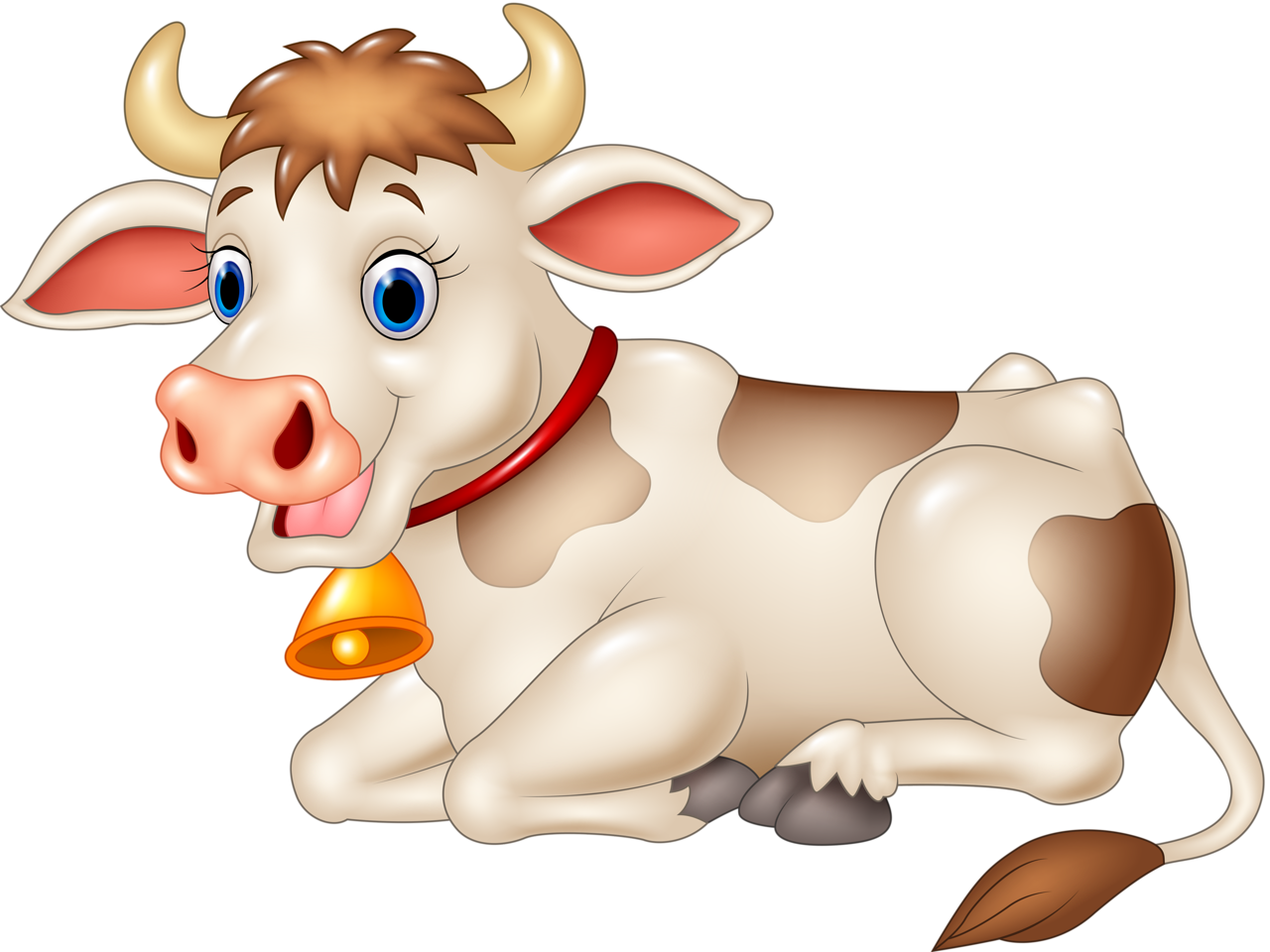 Christmas cow clipart image library download Funny cartoon animals vector (15) [преобразованный].png | Pinterest ... image library download