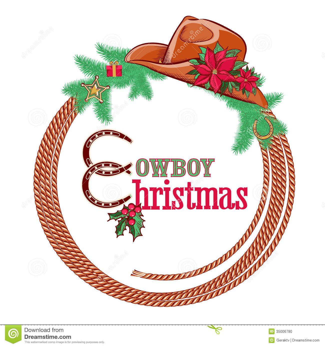 Cowboy christmas clipart free