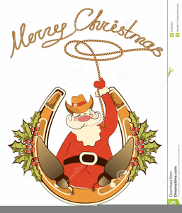 Cowboy Christmas Clipart Free | Free Images at Clker.com - vector ... clip art black and white stock