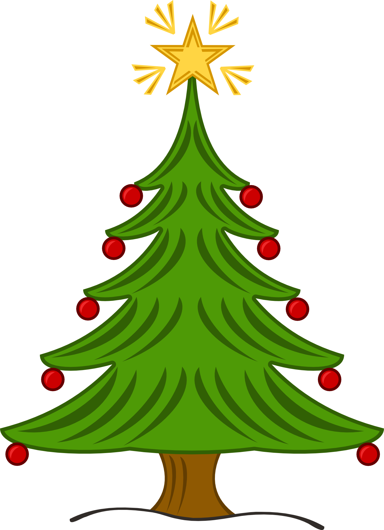 Vintage christmas tree clipart clip free Christmas tree clip art | Clipart Panda - Free Clipart Images clip free