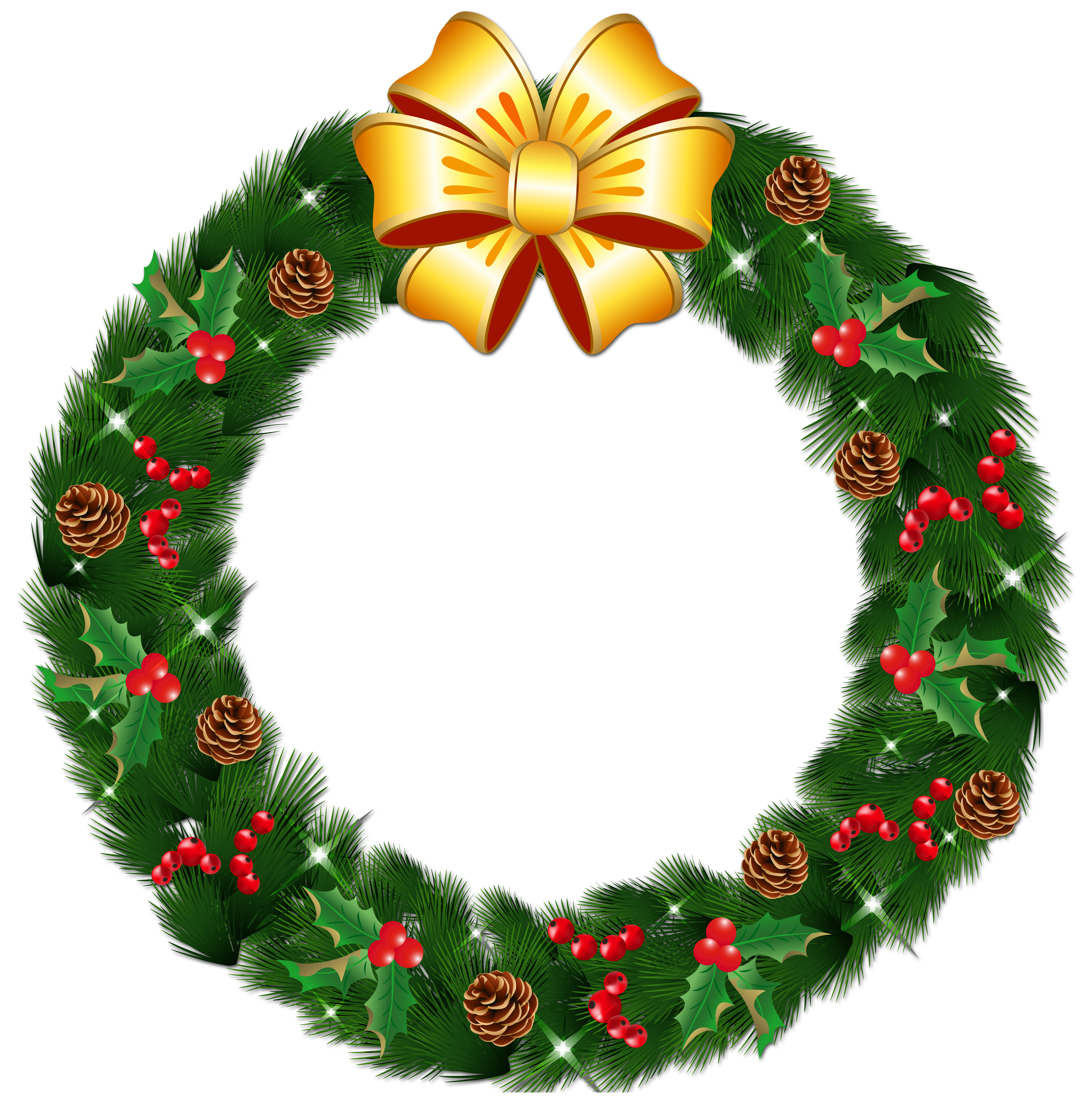 Free christmas wreath clipart clipart freeuse download Christmas Wreath Clipart at GetDrawings.com | Free for personal use ... clipart freeuse download