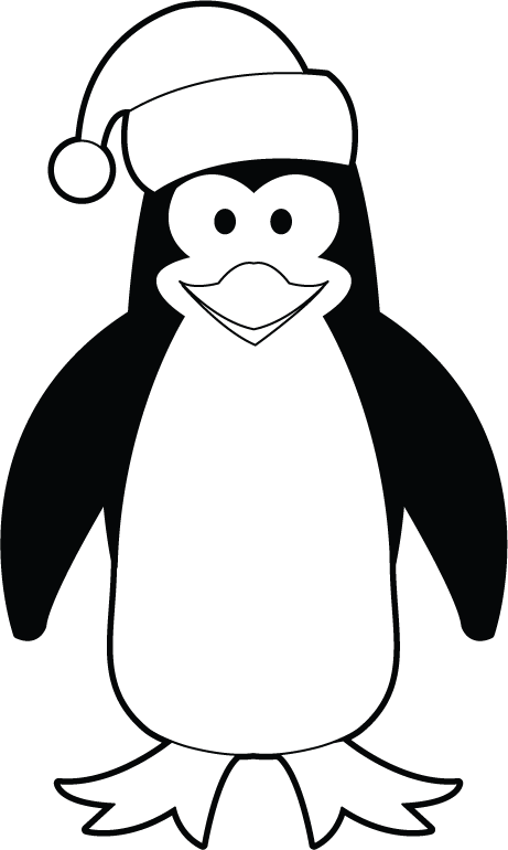 Halloween penguin clipart clip library download 28+ Collection of Cute Penguin Clipart Black And White | High ... clip library download