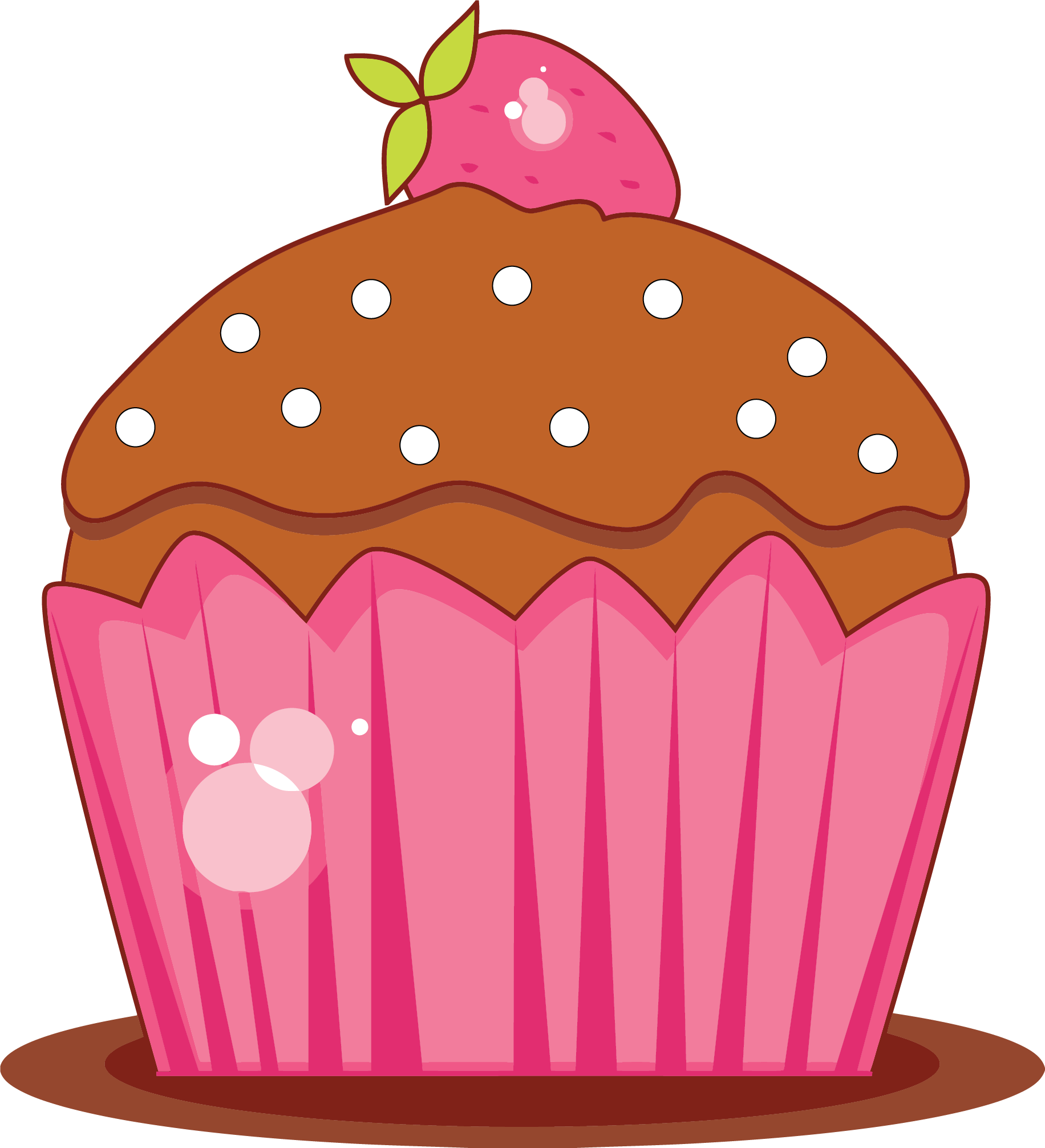 Fancy apple clipart graphic black and white Sweet Cupcake Clipart Png | Clipartly.com graphic black and white