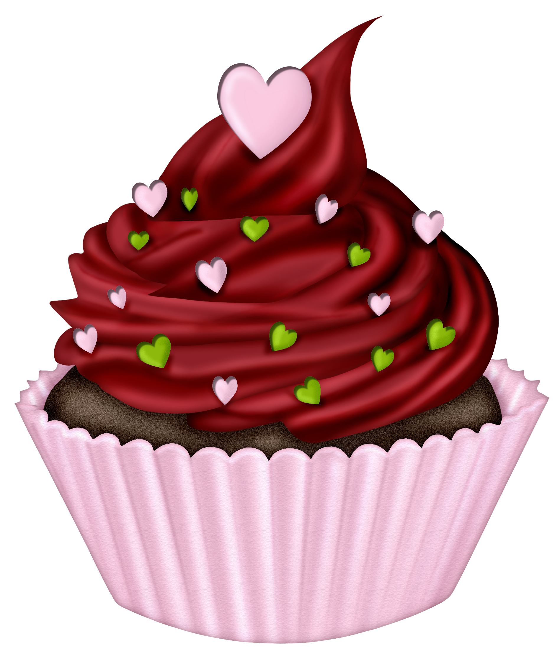 Christmas cupcake clipart png free download ○••°‿✿⁀Cupcakes‿✿⁀°••○ | digi's | Pinterest | Clip art, Cups and ... png free download