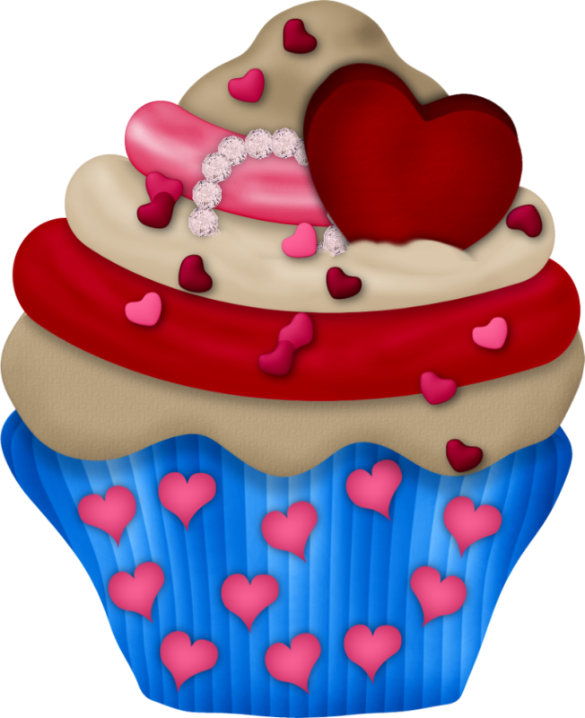 Heart cupcake clipart png black and white stock SDBIL-Cupcakes (1).png | Pinterest | Clip art, Birthday clipart and ... png black and white stock