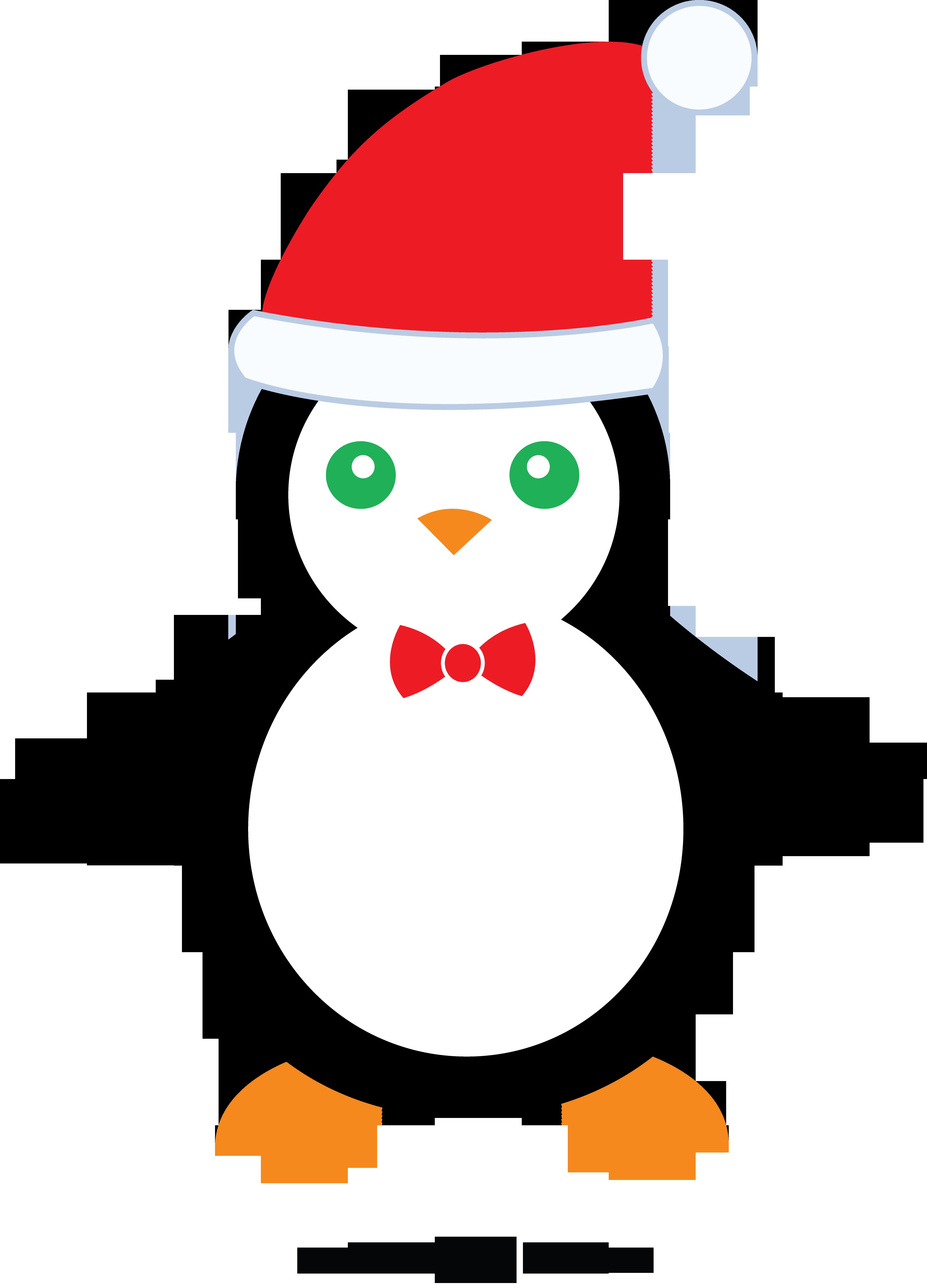 Penguin christmas clipart clipart transparent Cute Christmas Penguin - Free Clip Art clipart transparent