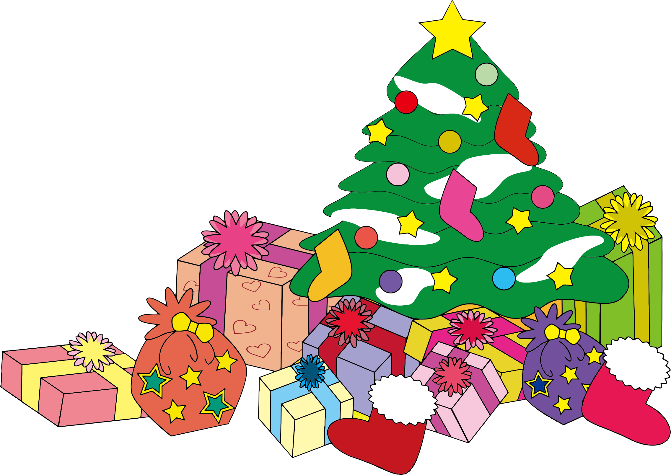 Clipart christmas tree with presents image royalty free download Christmas Gift Clipart at GetDrawings.com | Free for personal use ... image royalty free download