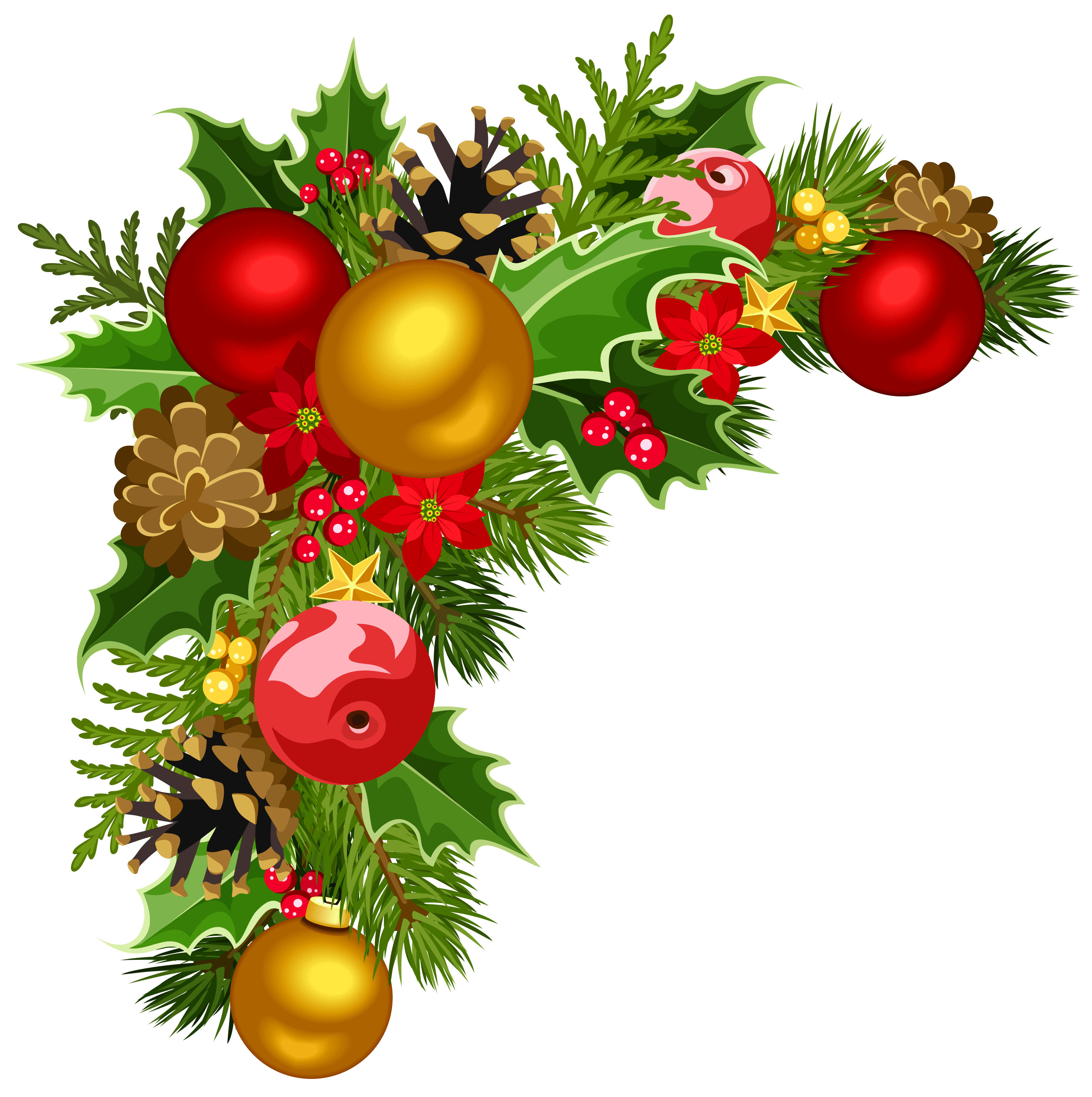 Christmas decor clipart transparent library Christmas Decorations Clipart – Merry Christmas And Happy New Year 2018 transparent library