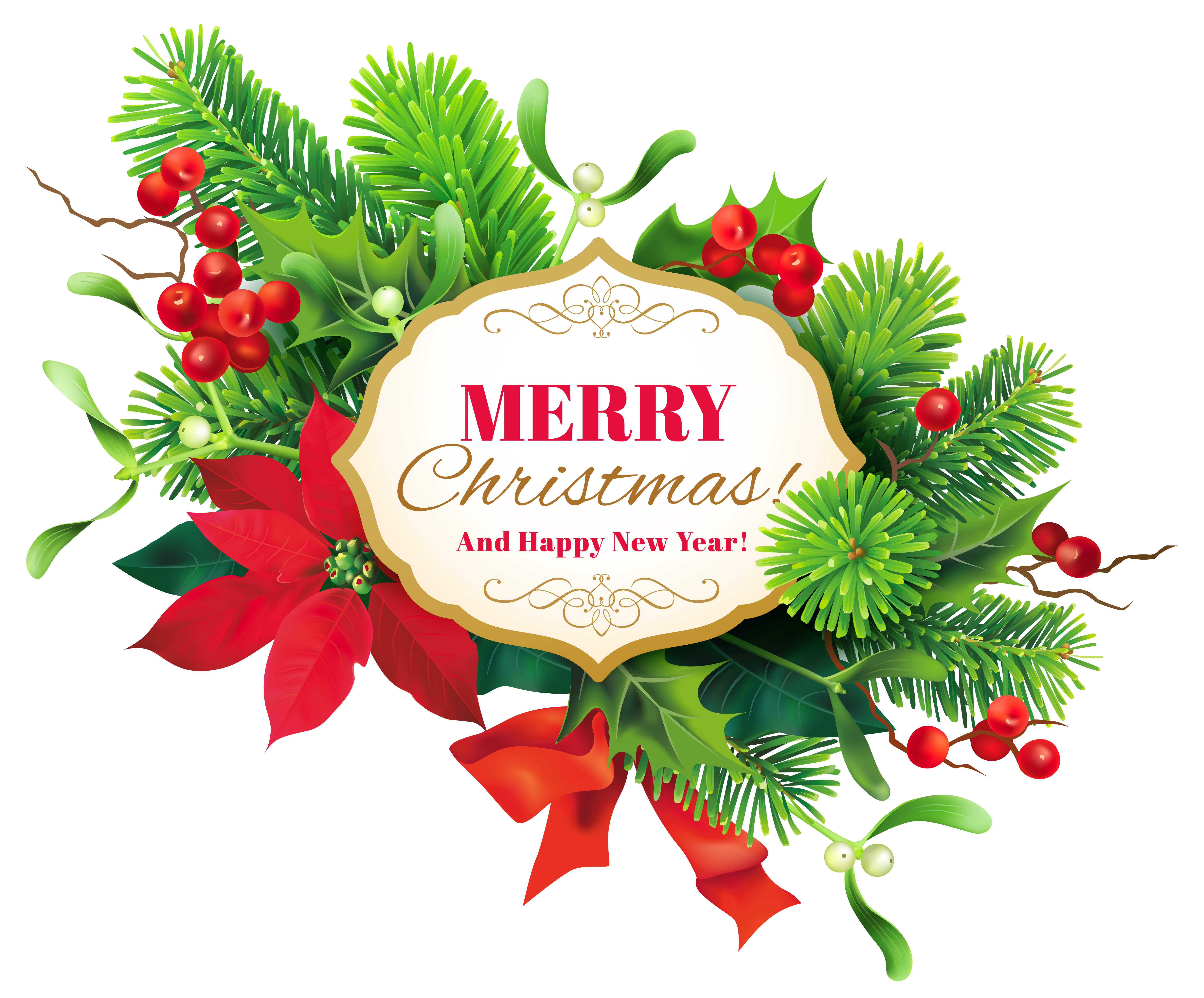 Christmas decor clipart clip stock Merry Christmas Decor PNG Clipart Image | Gallery Yopriceville ... clip stock