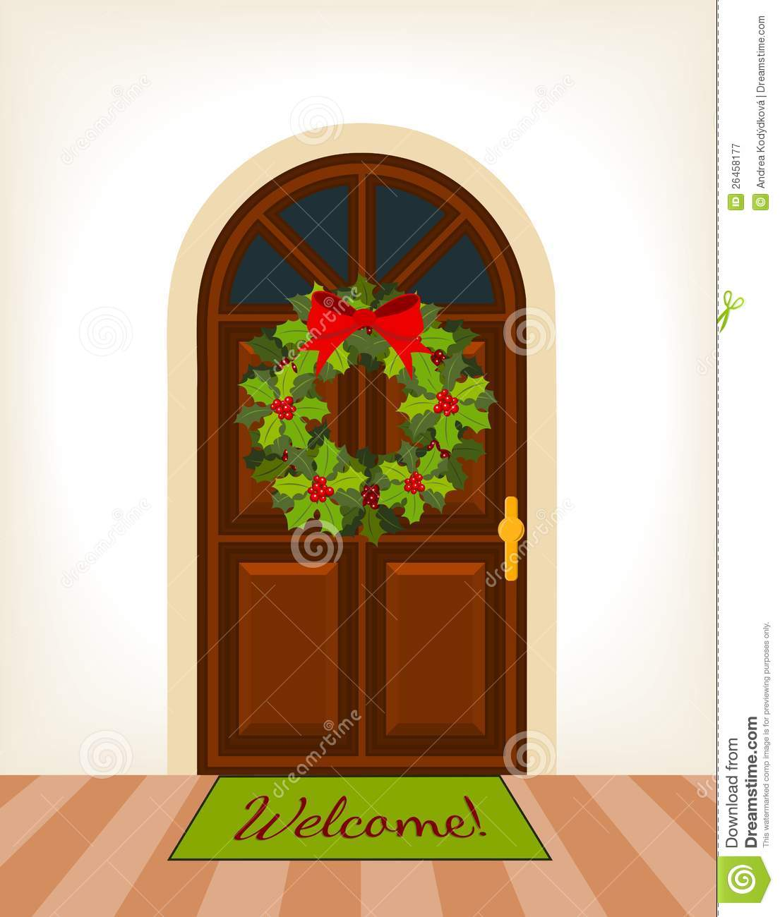 Christmas decorated doors clipart picture download Christmas Door Clipart, Christmas Decorated Office Door Clip Art ... picture download