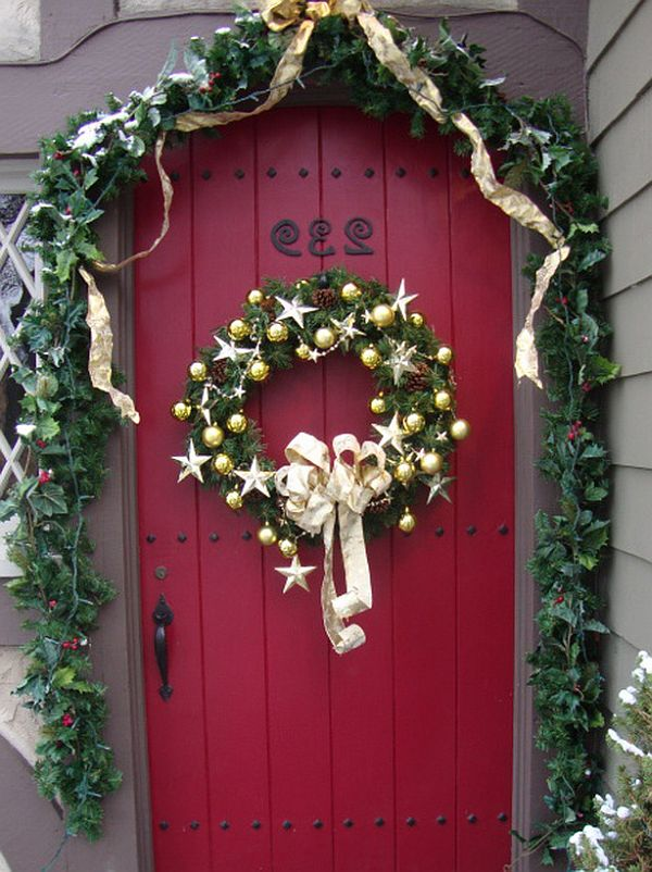 Christmas decorated doors clipart png free library Free Christmas Door Cliparts, Download Free Clip Art, Free Clip Art ... png free library