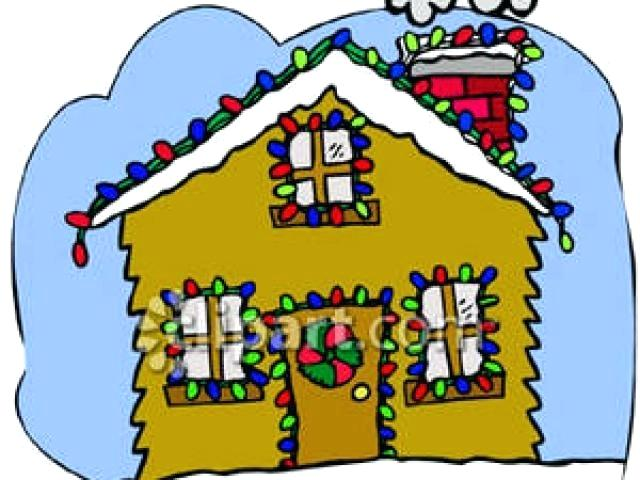Christmas decorated house clipart graphic free stock christmas house clipart – artsoznanie.com graphic free stock