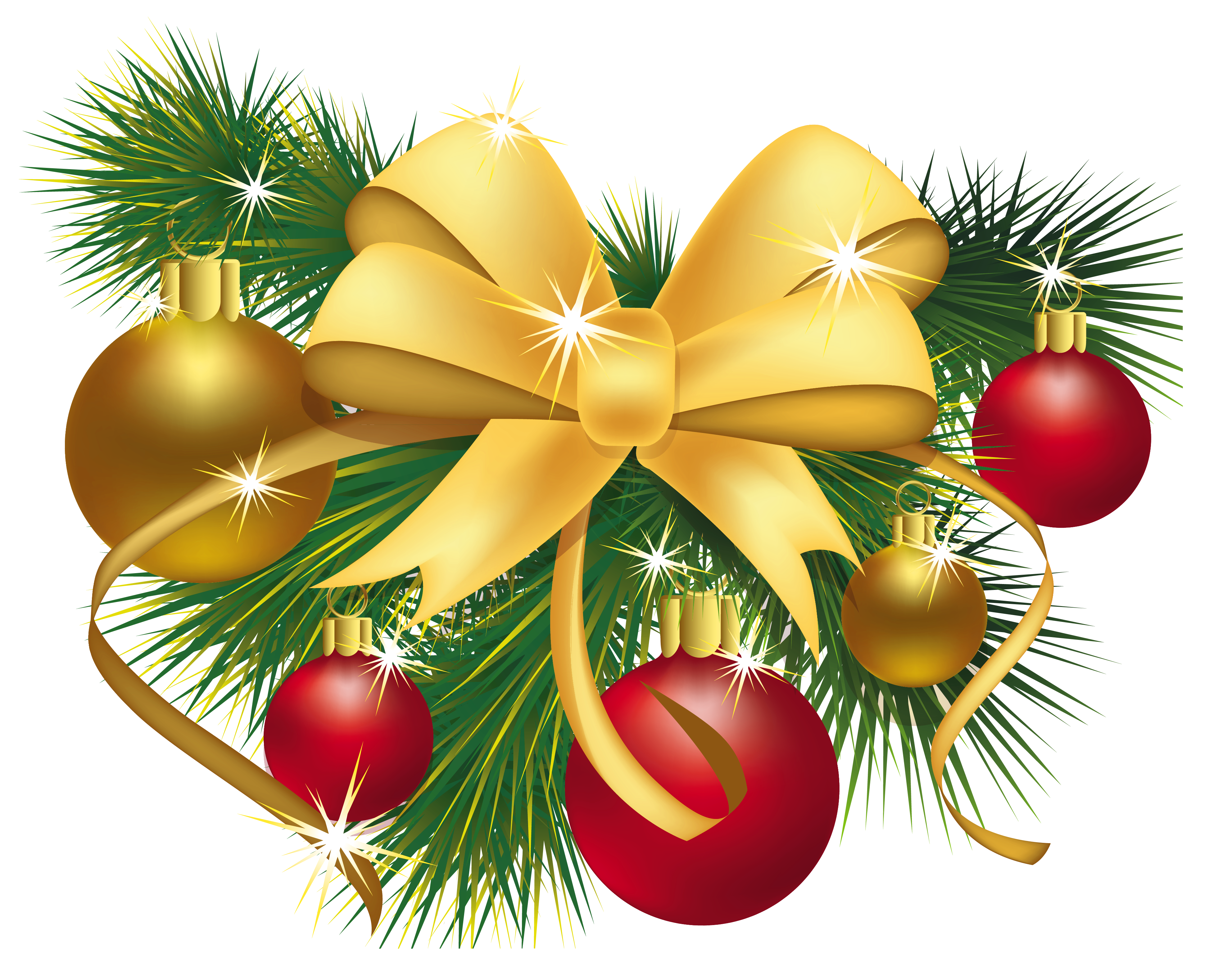 Clipart christmas decorations vector library Transparent Christmas Decoration PNG Picture | Gallery Yopriceville ... vector library