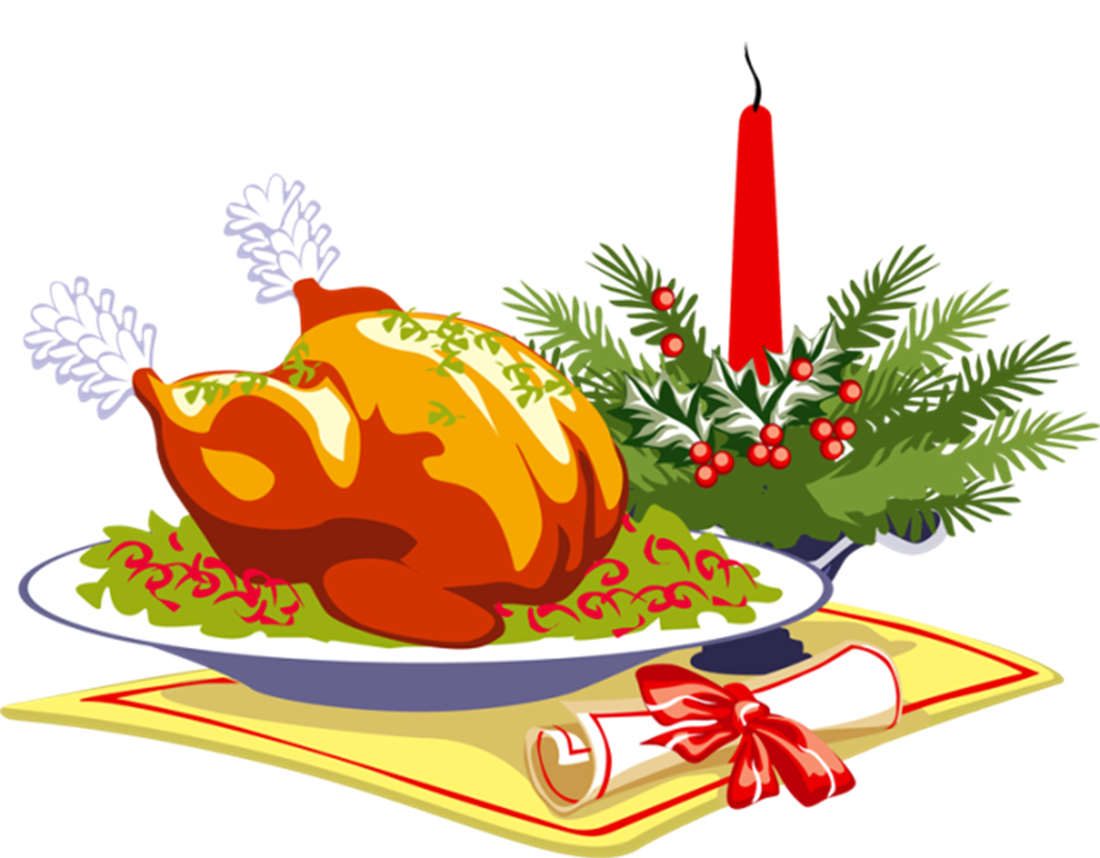 Turkey and ham clipart graphic royalty free download 28+ Collection of Christmas Dinner Clipart Png | High quality, free ... graphic royalty free download