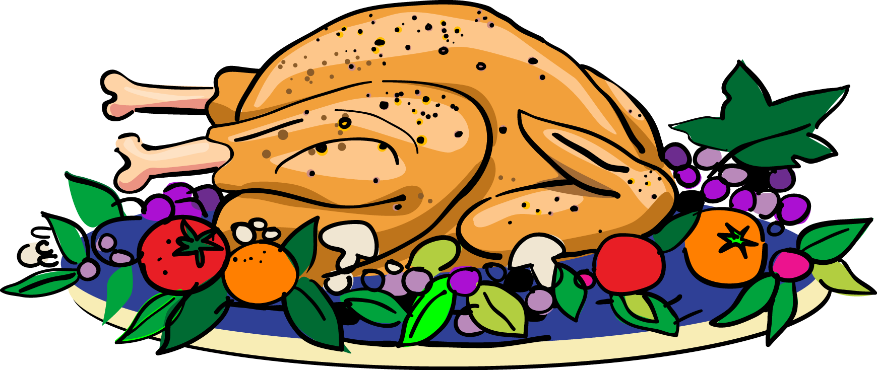 Thanksgiving meal offered clipart