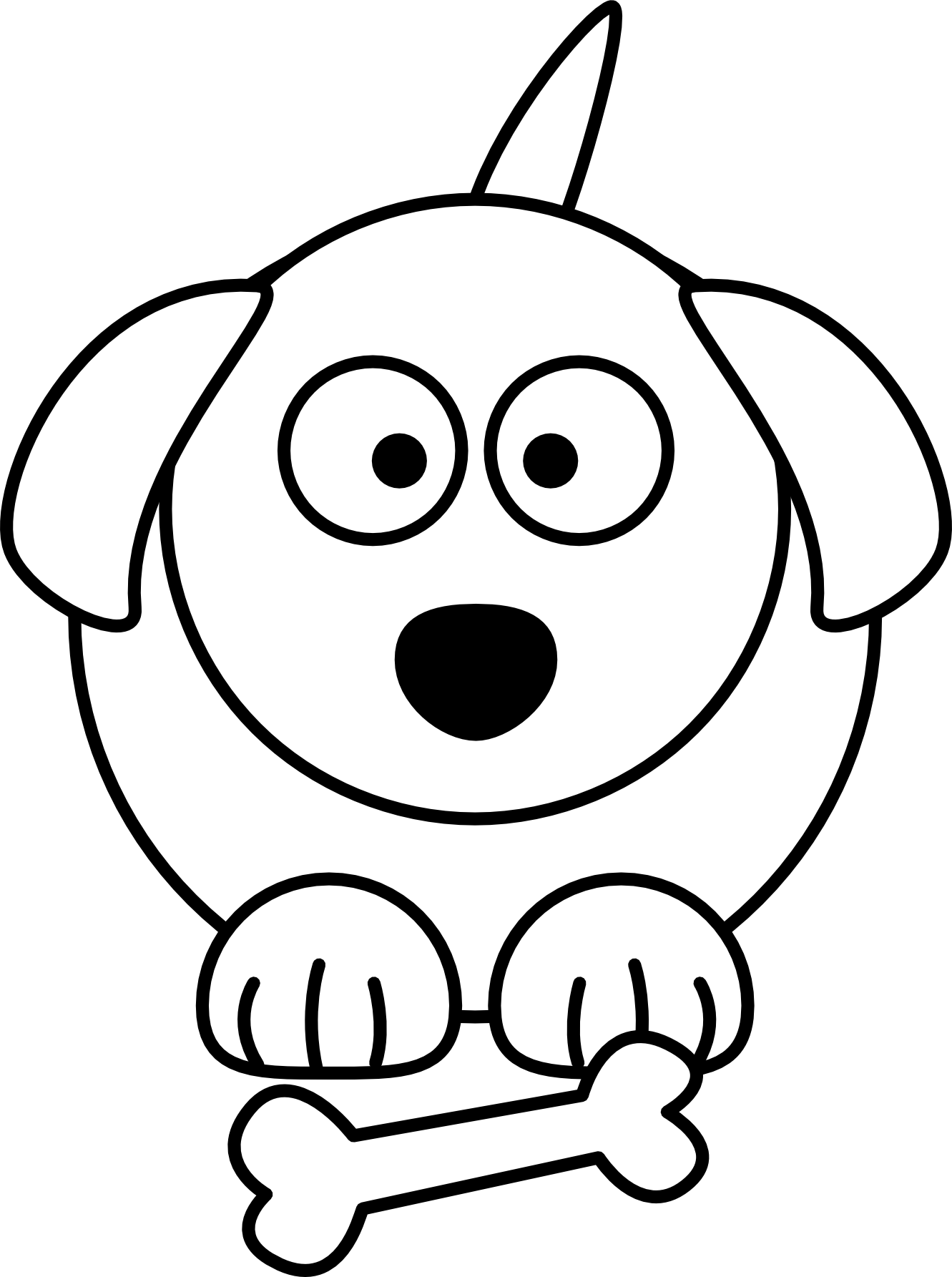 Easy to draw clipart dog png freeuse library Dog Line Drawing Clipart Best Lemmling Cartoon Black White Art ... png freeuse library