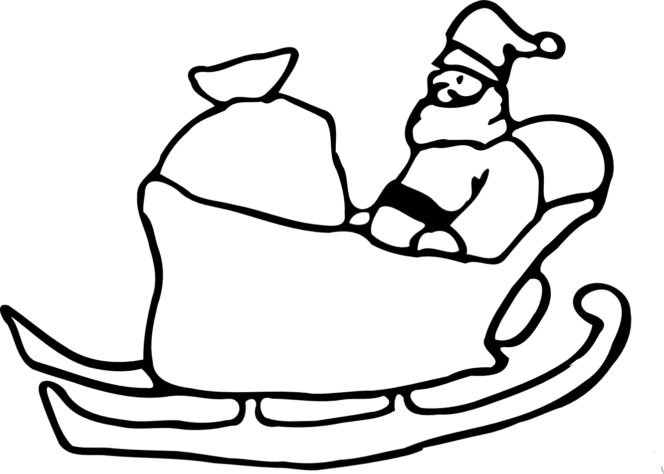 Christmas dog clipart black and white jpg download Free rudolph sleigh clipart christmas black and white jpg download
