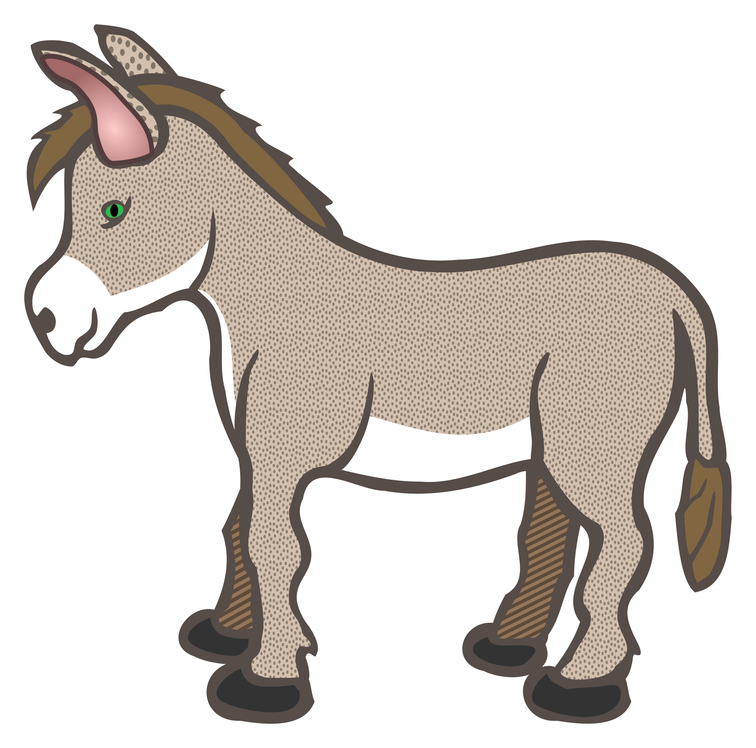 Donkey basketball clipart images vector royalty free download Donkey Clipart - Resolution: 2424x2400px | Рисунки | Pinterest | Donkey vector royalty free download