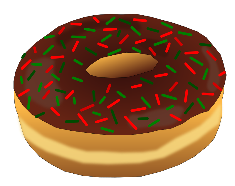 Christmas donut clipart picture download Clipart - Christmas Donut 2 picture download