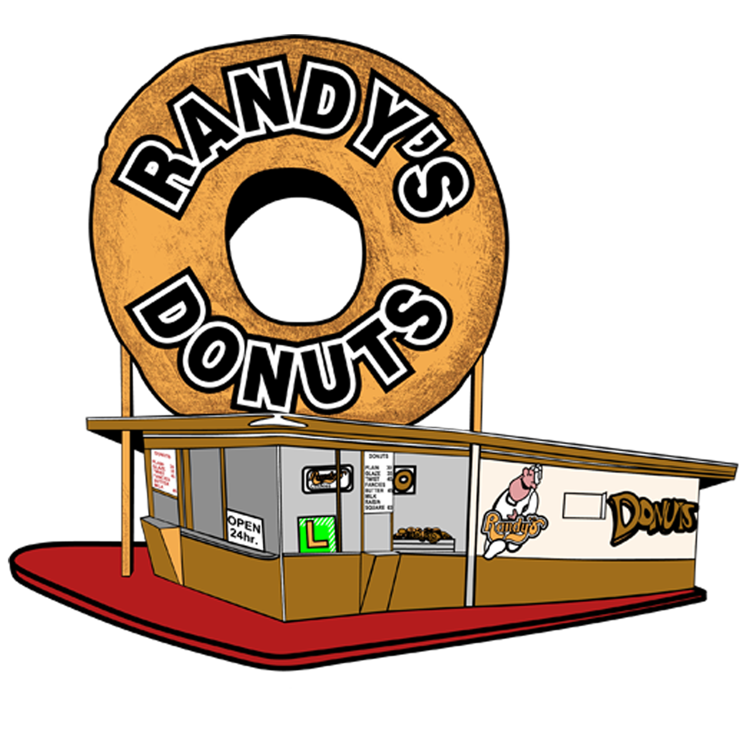 Christmas donut clipart image library stock Randy's Donuts image library stock