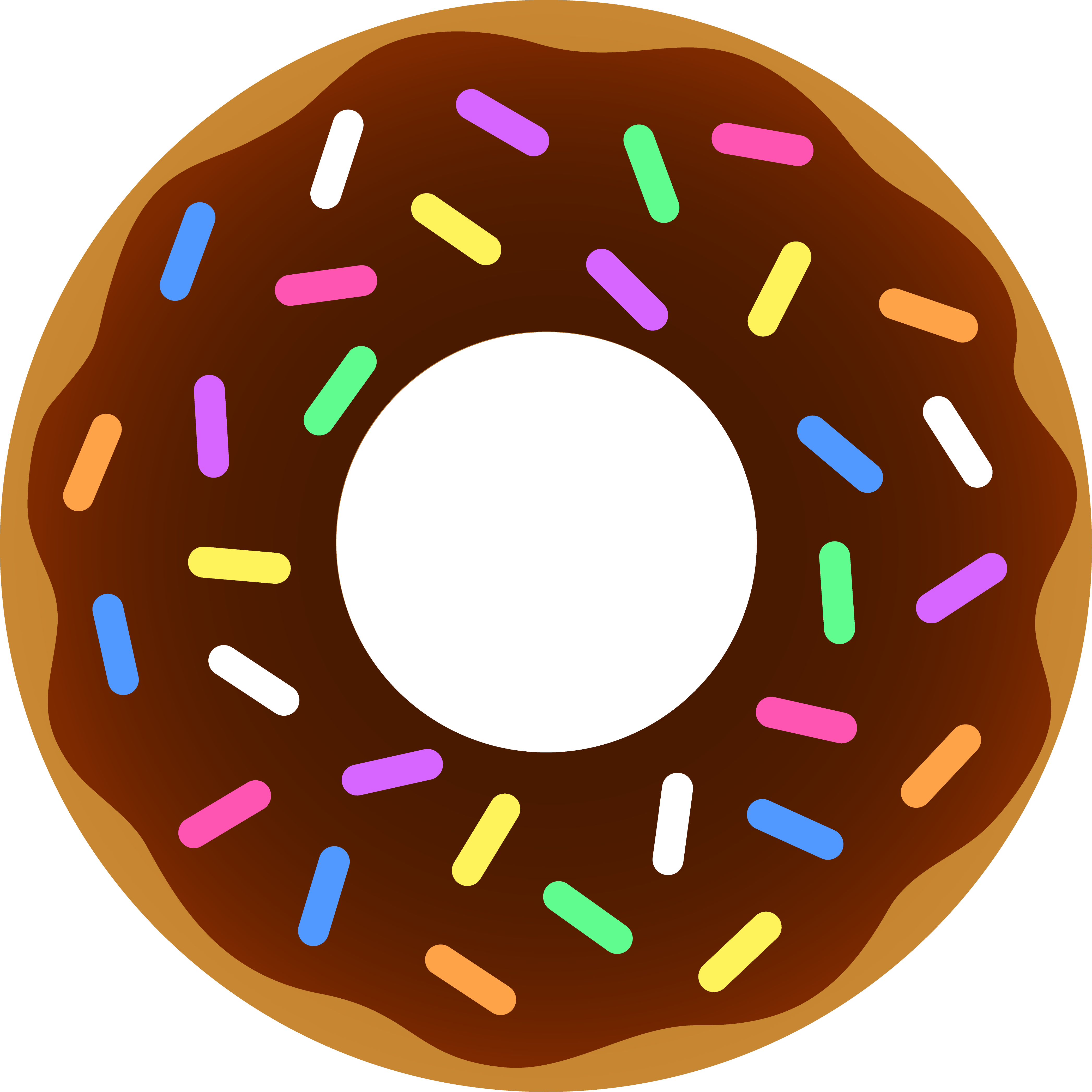 Christmas donut clipart graphic royalty free Dunkin' Donuts Coffee and doughnuts Clip art - donut cartoon 4187 ... graphic royalty free