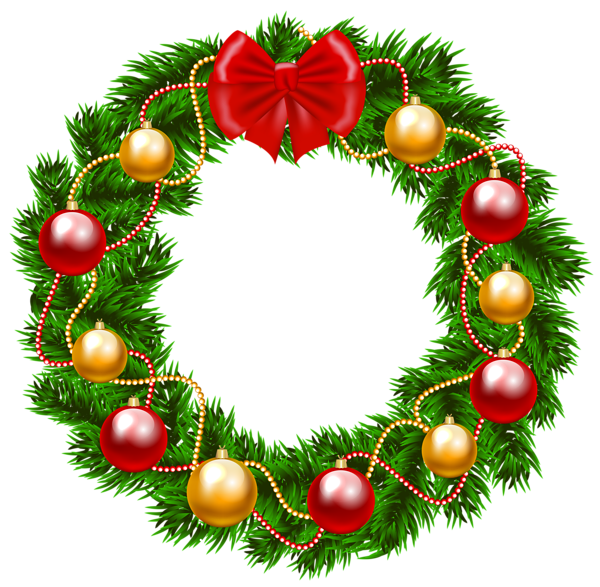 Dog wreath clipart image stock Christmas Wreath PNG Clipart Image | CHRISTMAS | Pinterest | Clipart ... image stock