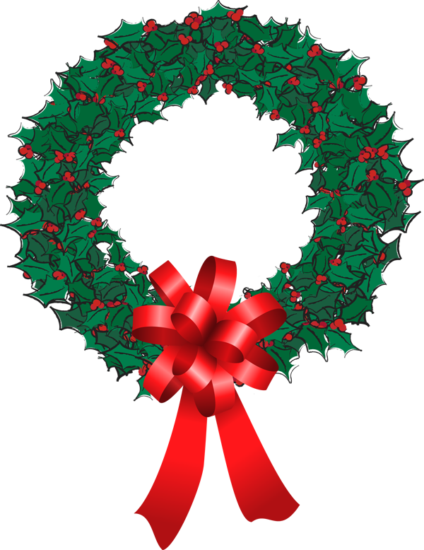 Christmas door clipart banner black and white download Why do people put Holly Wreaths on their front door? – Year 5's Blog! banner black and white download